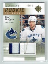 11-12 UD Ultimate  Cody Hodgson  /65  Dual Patches  Rookie