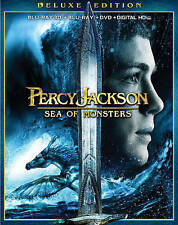 Percy Jackson Sea of Monsters 3D Blu-Ray DVD & Slip Cover Watched Once Free Ship