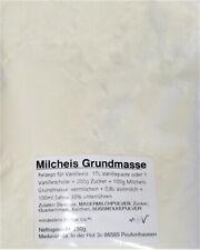 (1kg=18,00€) 250g Milcheis Grundbasis - Eispulver Milcheisbasis