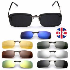Sunglasses Polarized Lens Flip-up Clip On Driving Glasses UV400 Eyewear Unisex