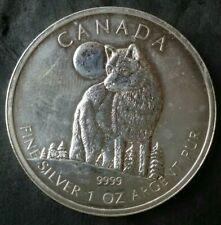 2011 Canada $5 1oz Silver Wolf Commemorative Coin