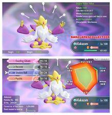 Pokemon Let's Go Pikachu & Eevee ✨ SHINY ✨6 IV  MEGA Alakazam FAST DELIVERY