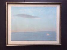 Derek Wilkinson Pastel Painting Fading Sun Seascape