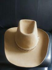Resistol Stagecoach Western Felt Cowboy Hat Color Tan Bark Sz 7 3 8 S255  gulch 10bd508307da