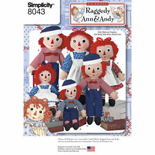 Simplicity Toy SEWING PATTERN 8043 Raggedy Ann & Andy Rag Dolls In 3 Sizes