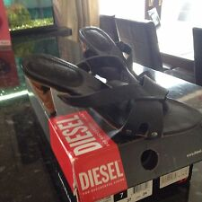 Leather Diesel Sandals Size:4 Eu:37
