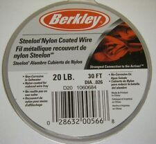 Berkley Steelon Nylon Coated Fishing Wire Leader SS Material D20 20lb 30ft