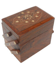 Wooden Decorative Handicrafted Sliding Drawer Jewellery Box For Rakhi Gift Item