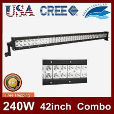 42''IN 240W CREE LED LIGHT BAR FLOOD SPOT WORK LAMP JEEP TRUCK BOAT CAR FOG CORO