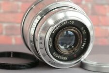 Industar 50 Glossy 3.5/50mm Silver Russian KMZ Lens for DSLR M39 + adap.ring M42