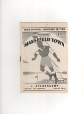 1954-55 MANSFIELD TOWN v ACCRINGTON STANLEY 11th September 1954 Divison 3 North