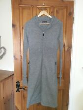 BENCH size M (10/12) knitted grey long hooded maxi coat