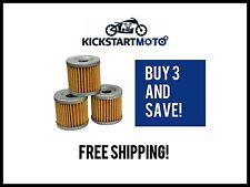 Oil Filter for Suzuki DRZ400 LTZ400 LTR450 (3 pack) Bulk Filters DRZ LTR LTZ 400