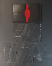 PASSPORT WALLET TEMPLATE SET FOR LEATHER CRAFT - WITH ADDED POCKETS NEW FOR 2015