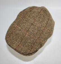 Childs Brown Harris Tweed Wool Flat Cap Peaky Blinders Baker Boy Newsboy Hat