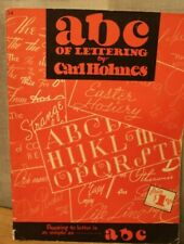 Vintage ABC of Lettering by Carl Holmes 34 Book Published Walter Foster 1950's