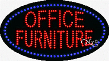 "New ""Office Furniture"" 27x15 Oval Solid/Animated Led Sign w/Custom Options 24461"