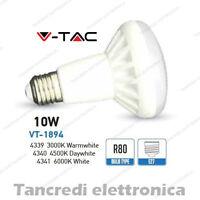 Lampadina led V-TAC 10W = 65W E27 VT-1894 R80 faretto spot reflector lampada