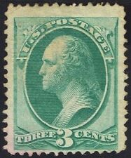 """US Sc# 136 *UNUSED H* { 3c WASHINGTON } STRONG """"GRILL NATIONAL BANKNOTE OF 1870"""
