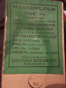 WW2 Film Magazine - Gun Camera, Kodak Type 1 Panchromatic 16 mm - Boxed exp 1943