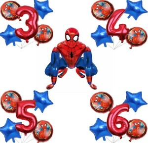 Spiderman Stand Airwalker with Birthday Balloons for Kids Toddlers