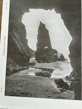 More details for antique 1903 needle rock & caves jersey channel islands photograph print photo