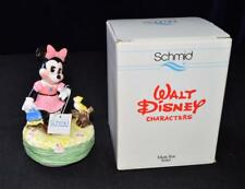 Vtg Box Schmid Disney Collection Minnie Mouse w Bird Music Box#233 Made Japan