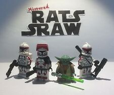 Lego Star Wars minifigures  Clone Custom Troopers AMBUSH (Yoda,Thire, Rys & Jek)