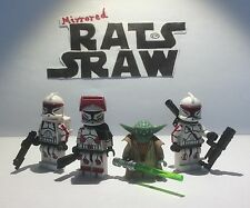 Lego Star Wars minifigures  Clone Custom Troopers AMBUSH (Yoda,Thire,Rys,Jek)