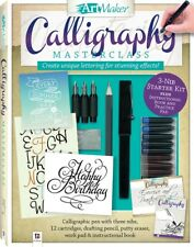 Art Maker Complete Calligraphy Kit 48Pg book 3 Nibs 12 Inks  Scratch Pad *2018*