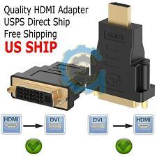 DVI Female To HDMI Male Connector Adapter Converter 1080P PC Desktop TV Laptop