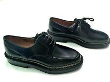 $1,290 THE ROW HANDMADE ENZO BONAFE BLACK CALF WOMEN DERBY SHOES -Size 35 (US 5)