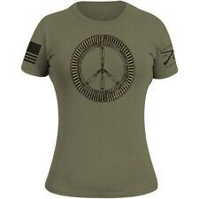 Ворчун женский стиль боеприпасы знак футболка-военный зеленый