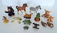 Miniature Animal Figurine Collection 14 Piece Estate Lot Japan Styson Ucagco