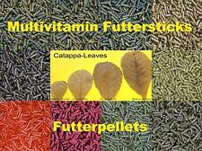 10 Sorten Futtersticks Futterpellets Garnelenfutter Fischfutter 25/50/100/200 gr