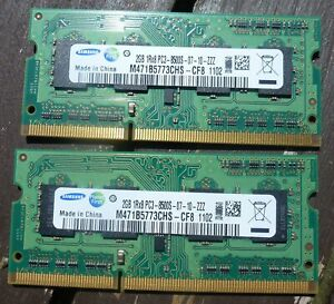 A pair of 204pin 2gb SODIMM Memory Modules, working pulls from old systems DDR3