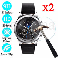 9H Tempered Glass Screen Protector For Samsung Gear S2 / S3 Classic Frontier-2PK