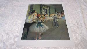 """Ancienne Lithographie E. DEGAS """" Classe de Danse """" Edition Braun & Cie"""