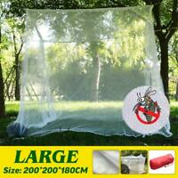 Large White Camping Mosquito Net Indoor Outdoor Insect Netting Tent Storage