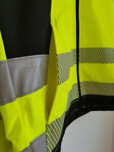 Terrax Work Wear Softshell Warnjacke gelb, Gr. XL Herren Arbeitsjacke Softshellj