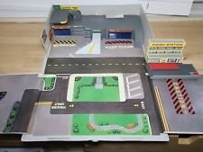 Vtg Micro Machines Fold Up Case Playset Galoob Highway Patrol Edna's Holland Tun