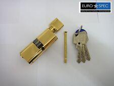 EUROSPEC MP10 OVAL THUMBTURN CYLINDER 35/35mm (70mm)  6PIN POLISHED BRASS - NEW
