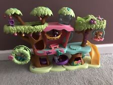 Littlest Pet Shop Tree House Magic Motion Playset EUC Elevator, Swing, Toy