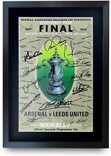 Leeds United 1972 A3 Framed FA Cup Final Programme Signed Autograph Gift