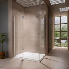 1x Duschkabine 120x90 cm Echtglas Komplette Dusche 8 mm Glas ES Duschwanne H215%