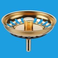 Gold Mcalpine Replacement Kitchen Sink Strainer Waste plugs