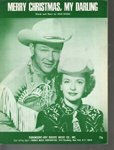 Merry Christmas My Darling 1967 Roy Rogers Dale Evans Sheet Music