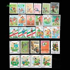 Football Postage Stamps Different 50pcs Unused Post Marks Soccer Topic Worldwide
