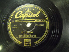 Vintage Capitol 78 Rpm - The Shot Gun Boogie/ My Hobby Tennessee Ernie CL13447