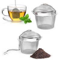 2x Teesieb Tee Ei Teekugel Für Tasse  Aus Edelstahl Teeei Infuser Teefilter